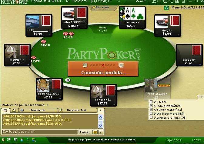 PartyPokerAAconexionperdida 4