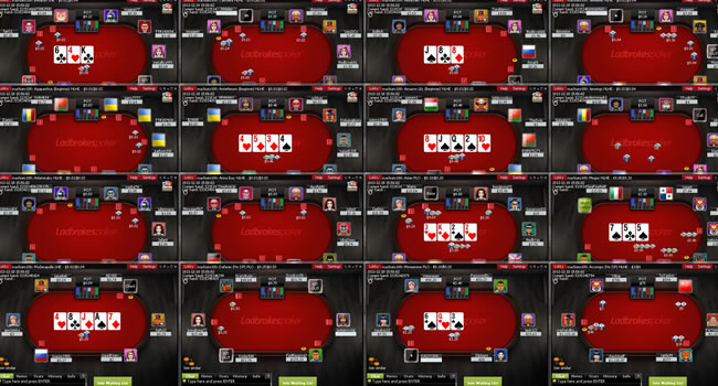 mesas multiples poker