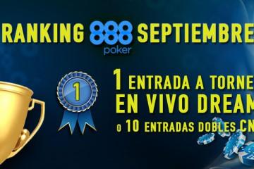 ranking septiembre 888 poker
