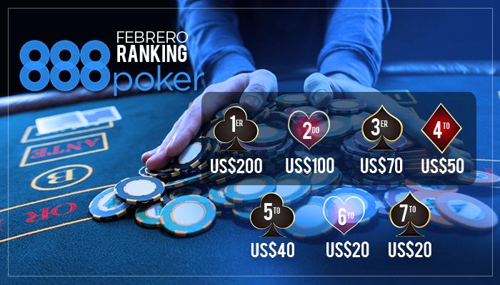 Pvelmir Inamobible En El Ranking Rojo De 888 Poker