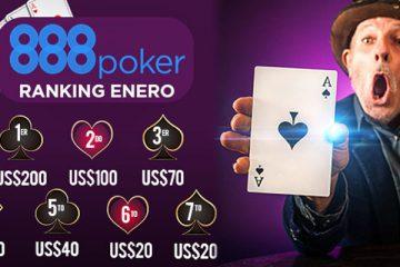 Ranking ENERO 888POKER