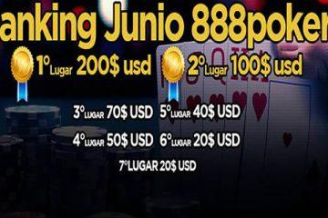 Ranking 888poker Chile Junio