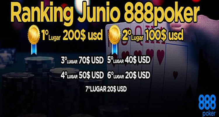 Ranking 888poker Chile Junio