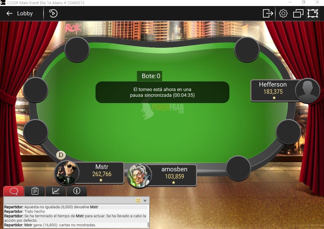 Mesa Final PokerFran Día 1A